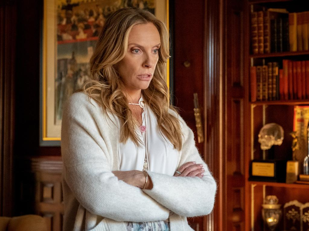 Toni Collette stars as Joni Thrombey in a scene from the movie Knives Out. Picture: Studiocanal