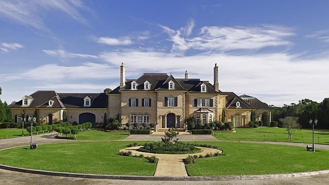 """Scare bleu: Le Chateau in Dural, north west of Sydney, sold for """"about"""" $6.5 million."""