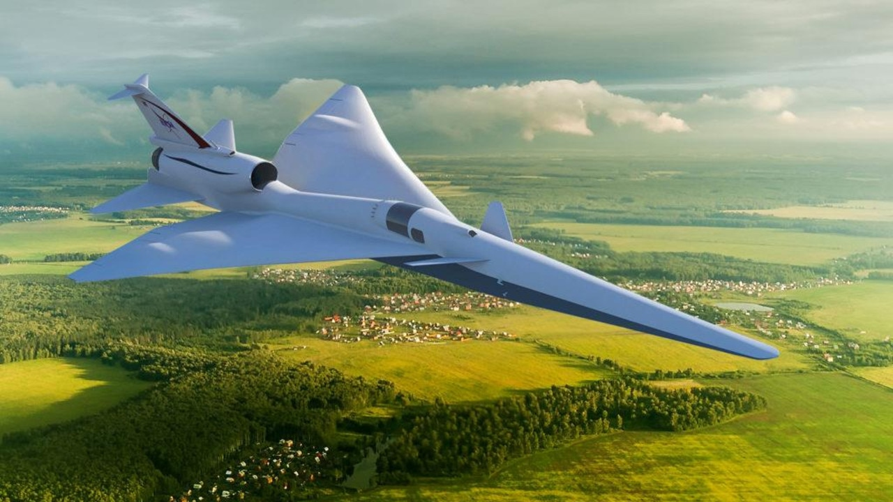 A visual concept presenting the Lockheed X-59. Image credits: NASA.