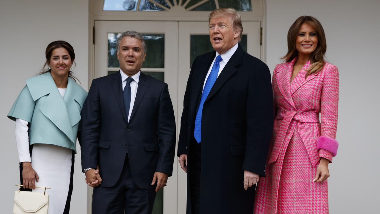 President Donald Trump is said to be 6'3 and 110kg. Picture: AP