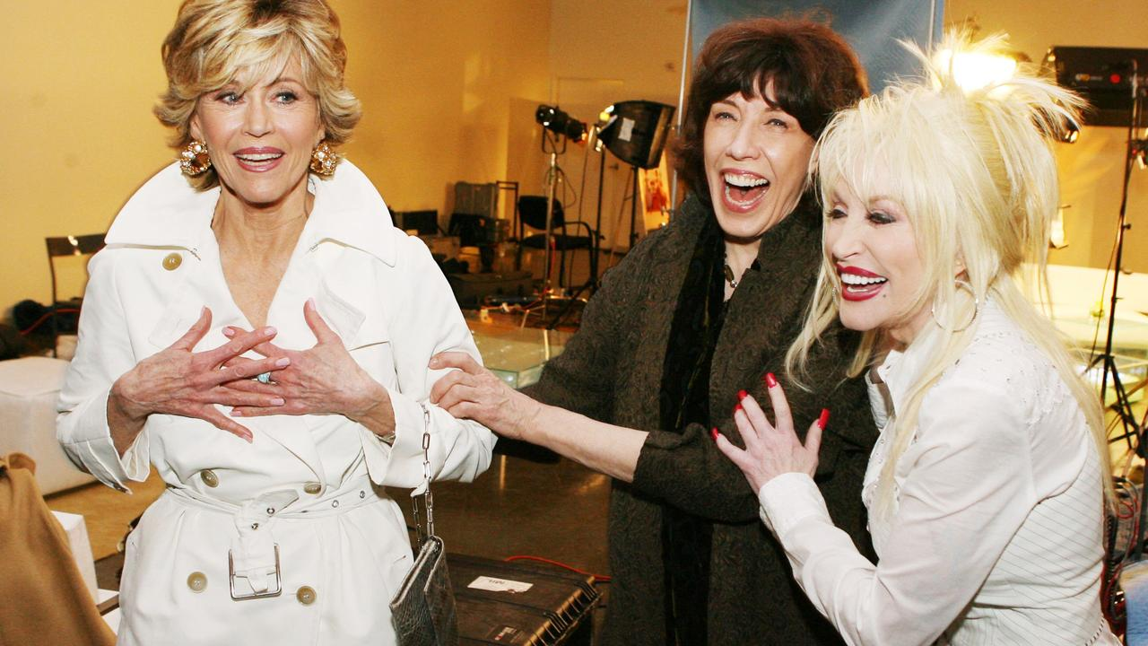 Jane Fonda, Lily Tomlin and Dolly Parton. Picture: Kevin Winter/Getty Images