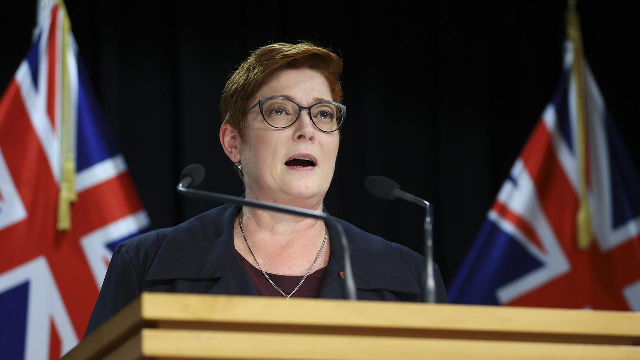 Marise Payne announced the agreements would be scrapped this week. Picture: Hagen Hopkins/Getty Images