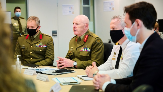 Lieutenant General John Frewen has detailed how  Australia will reach the 70 per cent vaccine threshold by the end of 2021 in order to start opening up. Picture: Getty Images