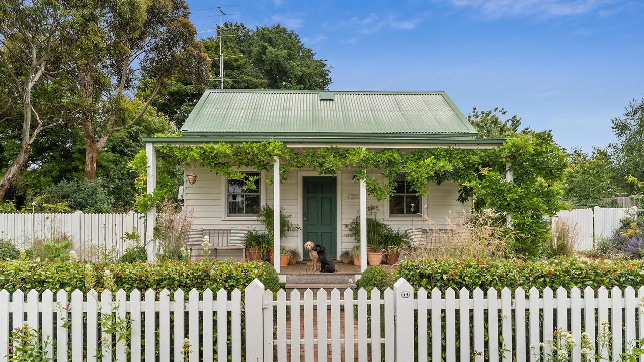 The quaint 14 Park Street, Trentham, sold for $900,000 earlier this year – affordable by city standards, given its 802sq m block.