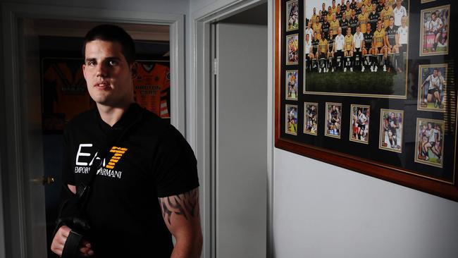 Simon Dwyer, former NRL player at home in Macquarie Fields.