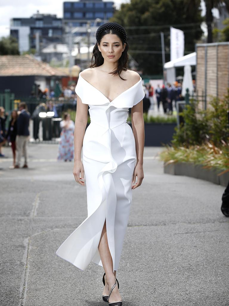 Jessica Gomes at the 2019 Caulfield Cup. Picture: David Caird