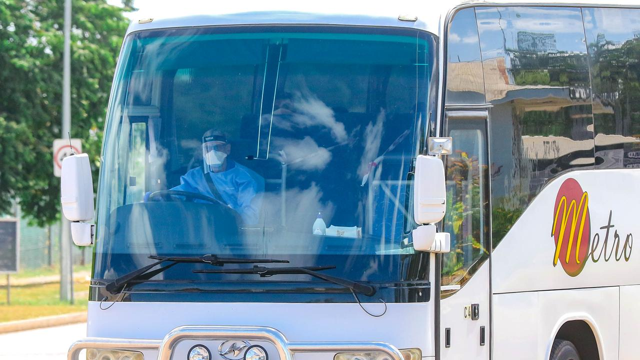 The NT Government is looking to lock-in a quarantine bus operator for five years. Picture Glenn Campbell Picture Glenn Campbell