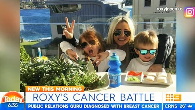 Roxy Jacenko has been diagnosed with breast cancer