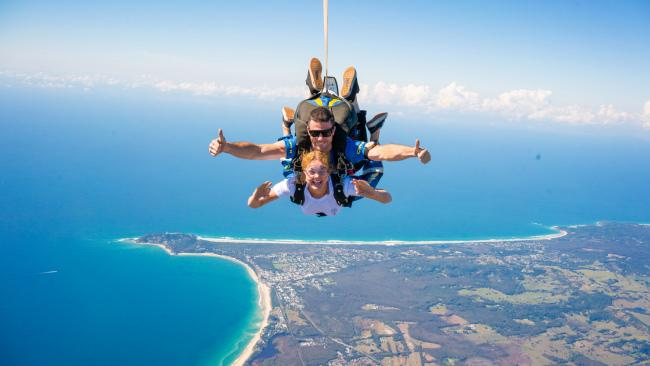 Tandem Skydive on the Gold Coast.