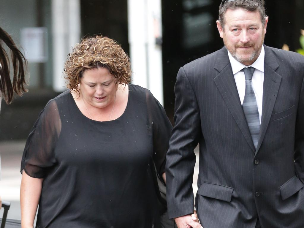 Rosemary Rogers leaves the Downing Centre with her husband. Picture: NCA NewsWire / Christian Gilles