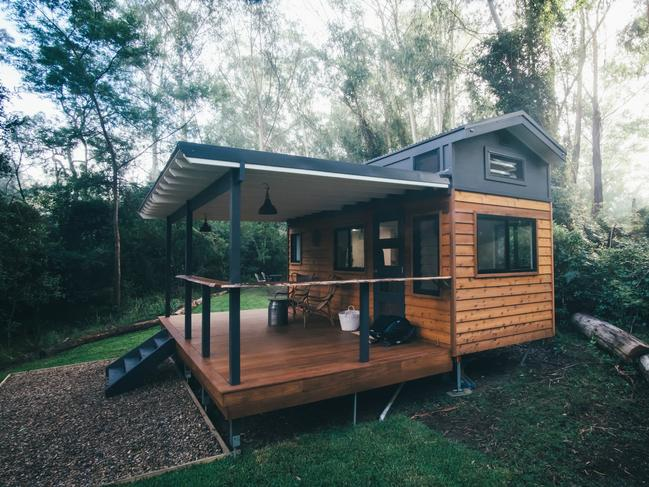 TALLAROOK TINY HOME, NSW Take a moment to exhale on the deck of this river-fronted tiny home in Mogood. Set amid the bush-fringed banks of the Clyde River, Tallarook is a Zen little oasis where wallabies and other native fauna frolic.