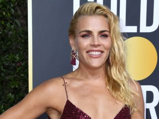 Busy Philipps at this year's Golden Globe awards. Image: AP