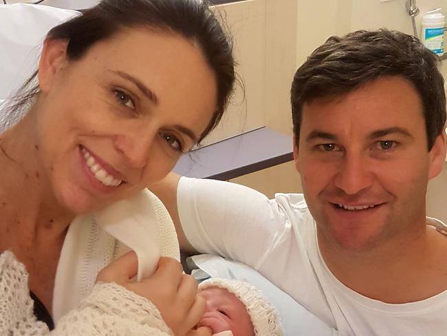 Jacinda Ardern posted this image shortly after her daughter's birth.
