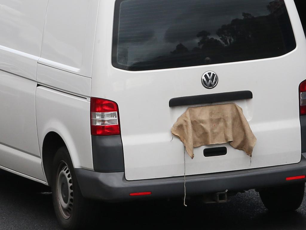 Mr Virgona's van was reported to police as blocking traffic before the grisly discovery was made. Picture: David Crosling