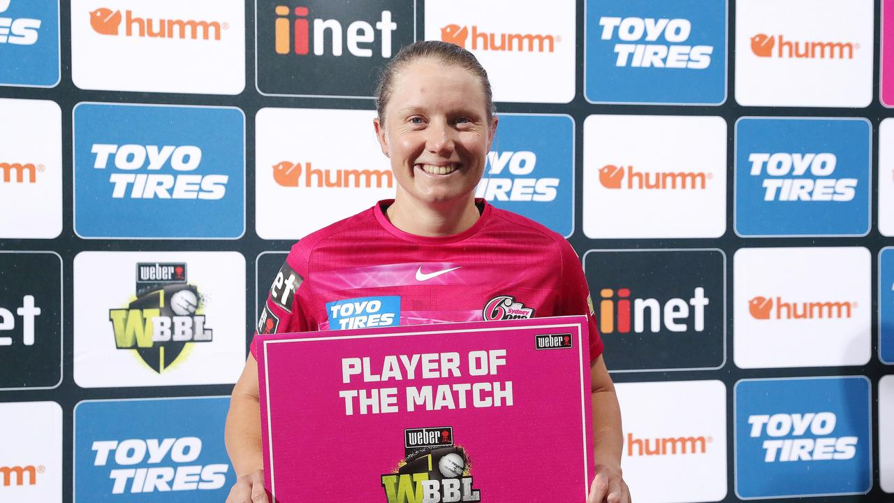 Player of the match Alyssa Healy enjoyed the freedom of the Big Bash. Picture: Sarah Reed/Getty Images