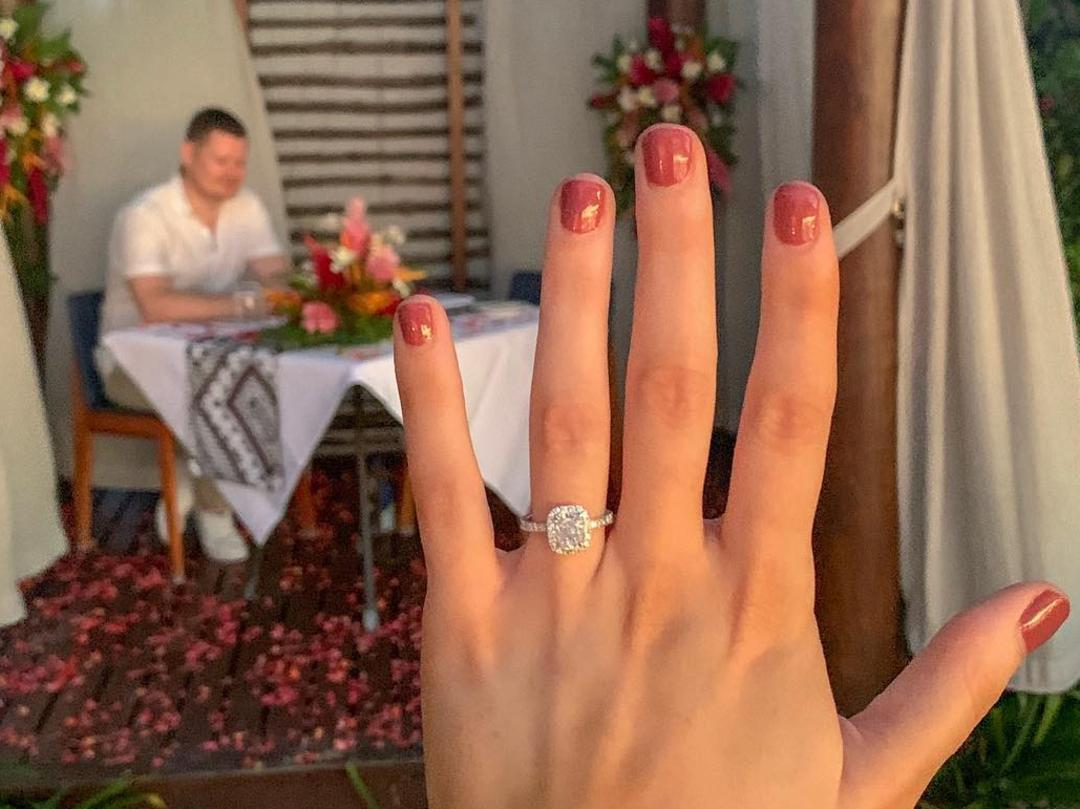 Katrina Small when she got engaged to Eoin Keating recently at Momi Bay.