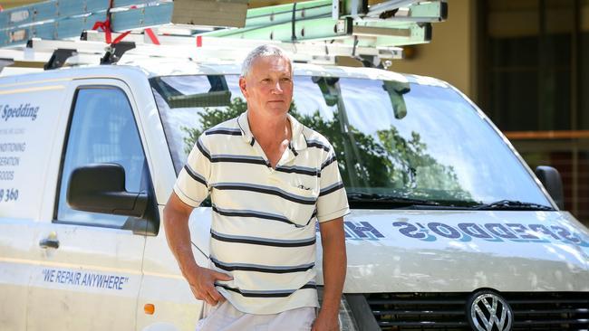 William Spedding with his work van. Picture: Lindsay Moller