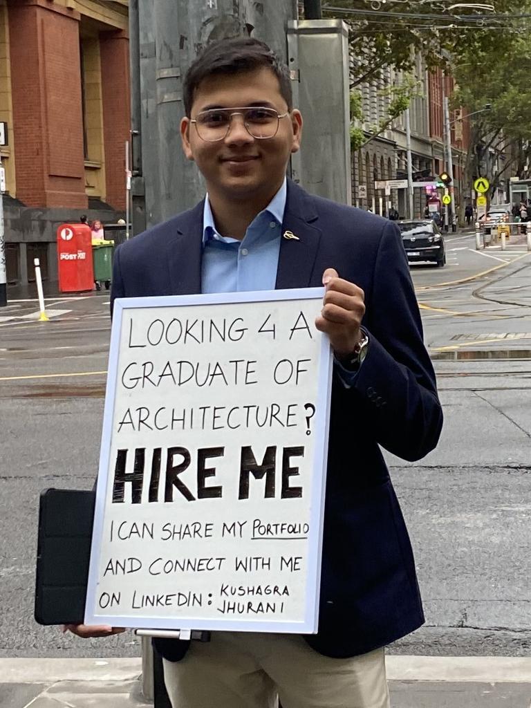 Kushagra 'Kush' Jhurani struggled to get a job.