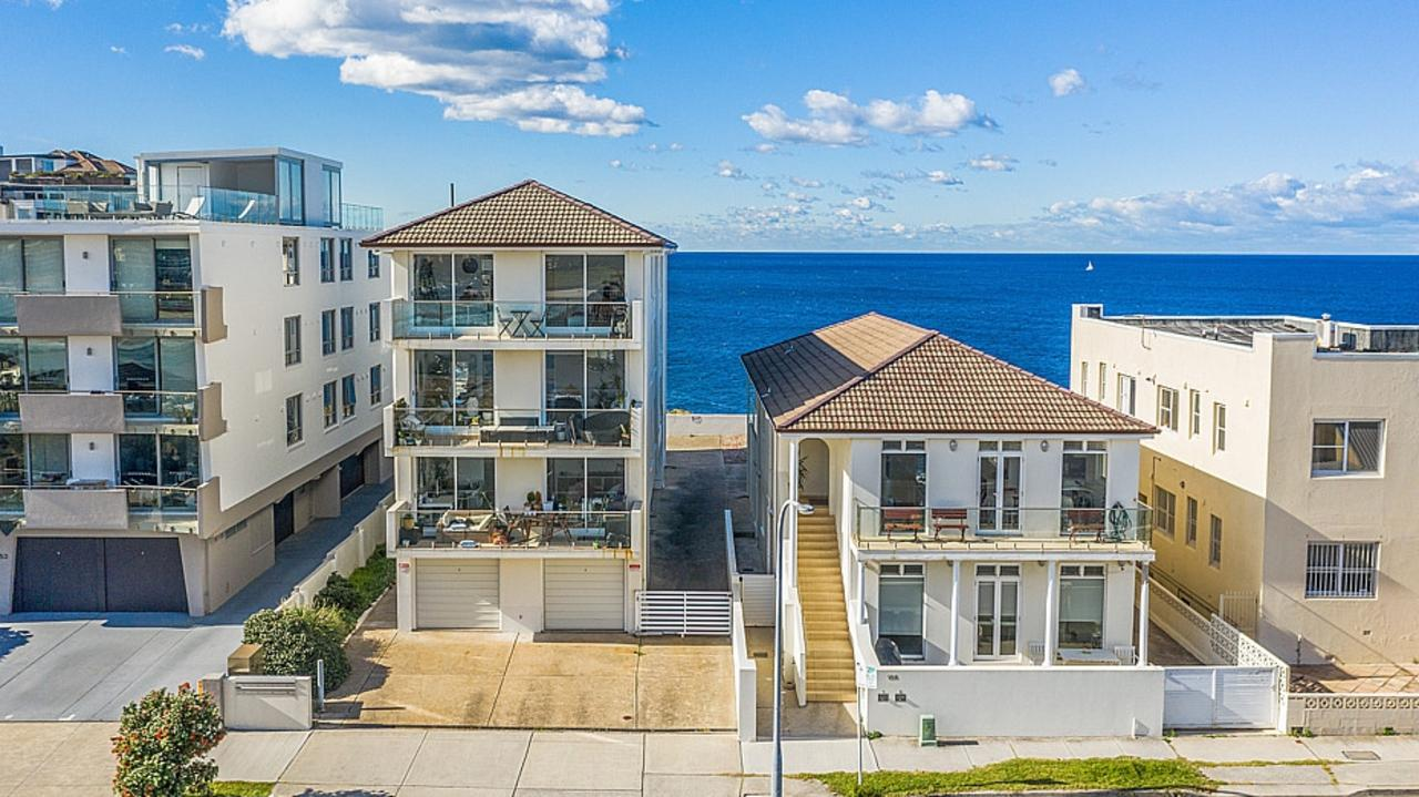 154 Brighton Boulevard, North Bondi, has sold for more than $22m. The duplex next door is still available for about $20m.