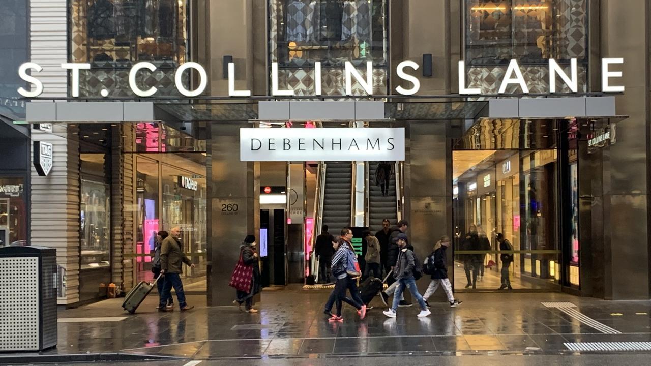 Debenhams Melbourne store in 2019.