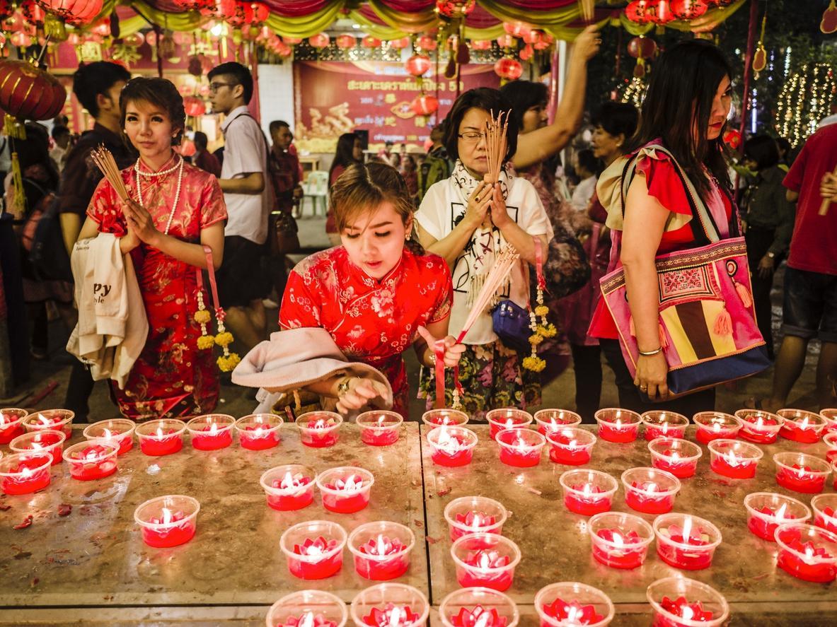 Wat Mangkon Kamalawat temple Chinatown Bangkok Thailand