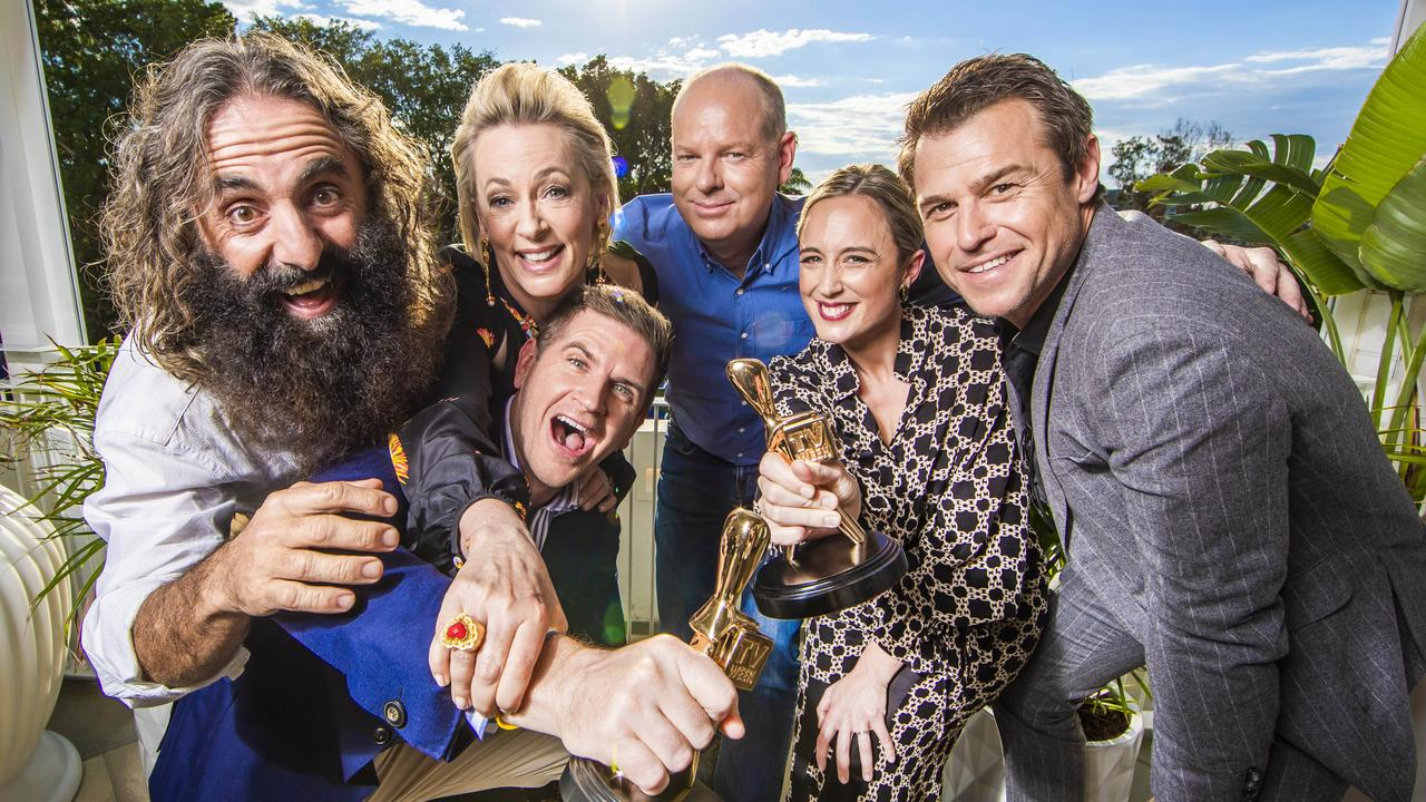 2019 Gold Logie nominees: Costa Georgiadis, Amanda Keller, Sam Mac, Tom Gleeson, Eve Morey and Rodger Corser pictured at The Star Gold Coast. Missing is Waleed Aly. Picture: Nigel Hallett