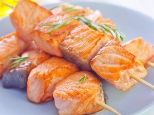 Salmon kebabs. Image: iStock.