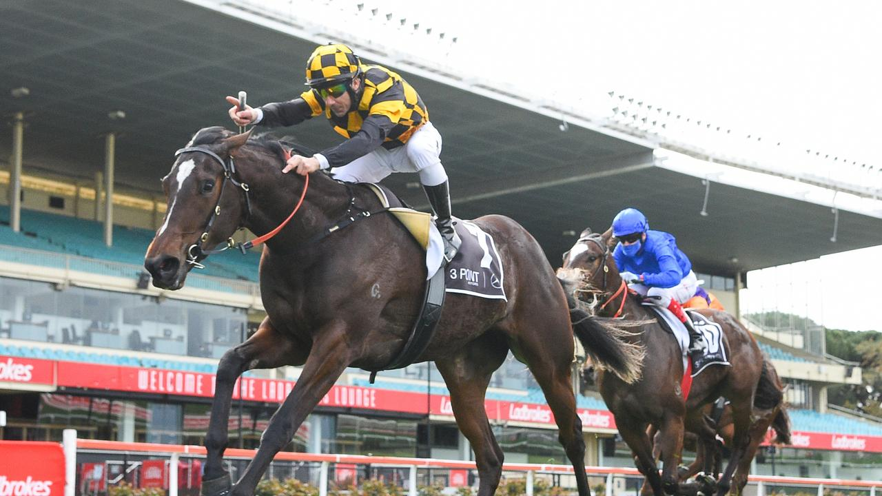 Unbeaten filly Zouzarella is the new favourite for the Thousand Guineas. Picture: Racing Photos via Getty Images)\