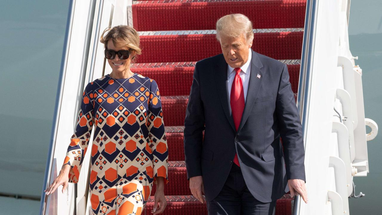"""Former president Donald Trump and wife Melania could be """"evicted"""" from their Palm Beach property. Picture: Noam Galai/Getty Images/AFP"""