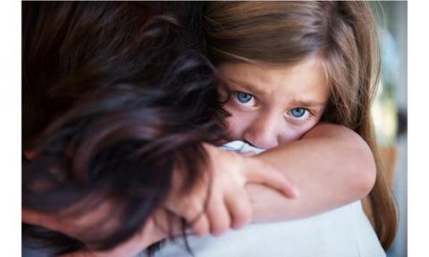 sad little girl bully