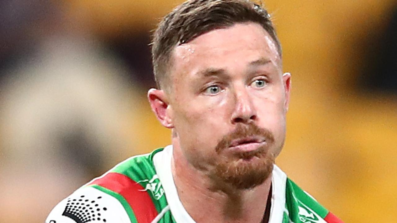 South Sydney hooker Damien Cook has hit back at critics who suggest he has failed to perform in the Rabbitohs' past three preliminary final losses. Picture: Chris Hyde / Getty Images