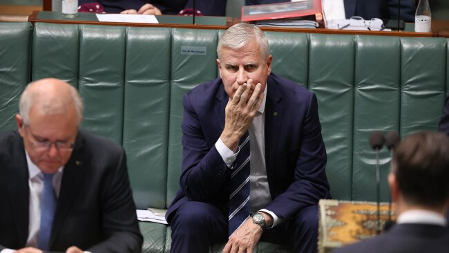 Michael McCormack was rolled as Nationals leader by Barnaby Joyce on Monday. Picture: NCA