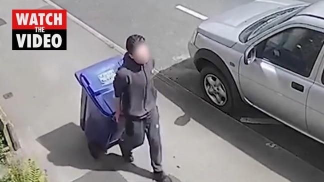 CCTV catches horror moment teen wheels away body