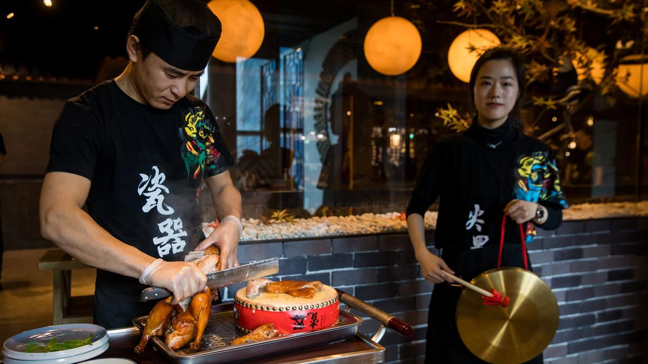 The Peking duck is prepared over two days and served three ways at Beijing Impression.