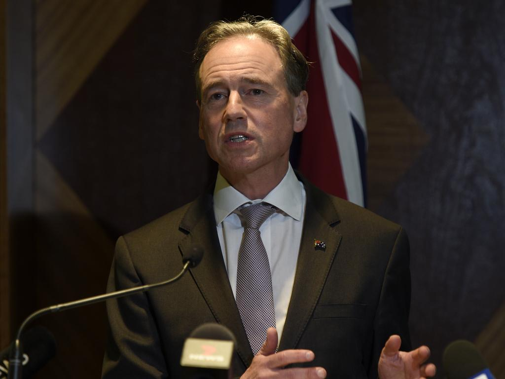 Greg Hunt insists the government has time to reach its September deadline for mandatory vaccines among aged care workers. Picture: Andrew Henshaw / NCA NewsWire