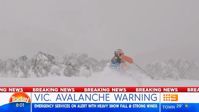 Avalanche warning issued for Victorian Alps