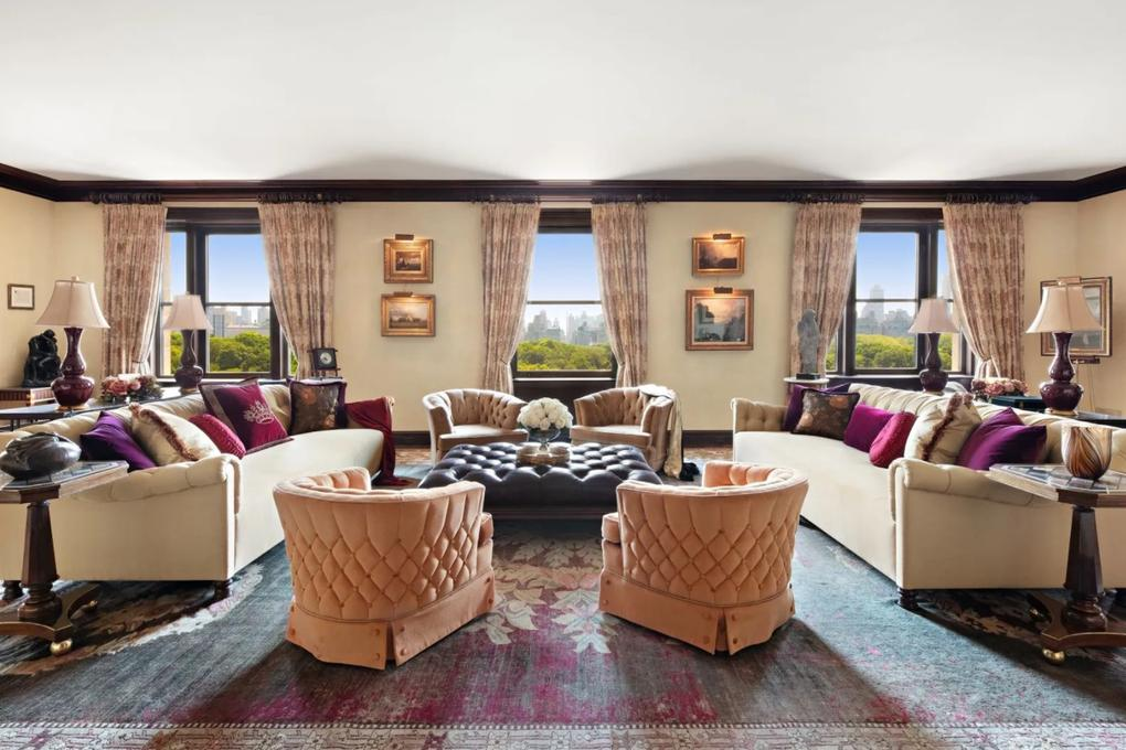 The lavish living room. Picture: Sotheby's International Realty
