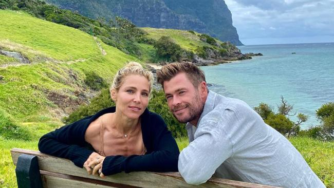 Tourism Australia has revealed the holiday itinerary of the Hemsworth family's recent Lord Howe Island trip, making us all insanely jealous of the experiences the group had on the remote Australian island. Picture: Instagram/@chrishemsworth