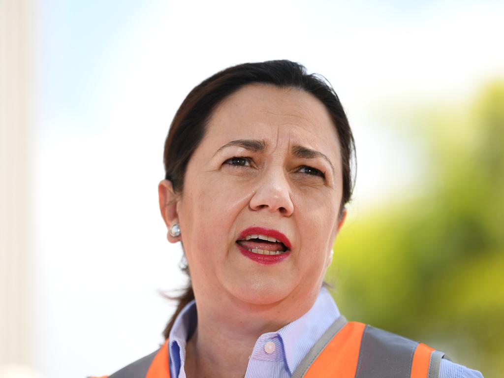 Queensland Premier Annastacia Palaszczuk visited the Old Rockhampton Train Workshop on Thursday, announcing funds to develop the site. Picture: NCA NewsWire / Dan Peled