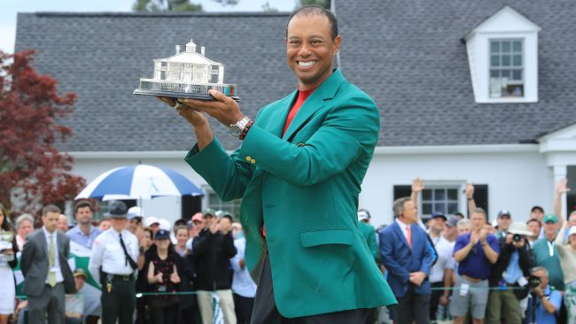 Tiger in the green jacket. Picture: Getty Images