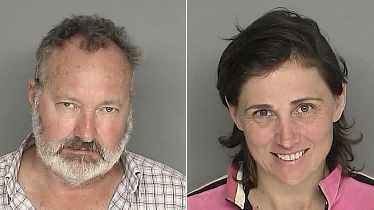 The couple's 2020 mugshots. Picture: AFP/HO/Santa Barbara County California Sheriff's Department