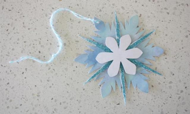 Make an Elsa snowflake Christmas ornament