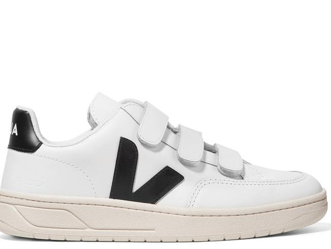 V-LOCK LEATHER SNEAKERS, $190.57 FROM VEJA Sustainably made from ethically-sourced leather and lined with organic cotton, French-born Veja are fast becoming the IT sneaker to add to your wardrobe. The velcro straps will appeal to those who don't fancy dealing with laces that refuse to stay in place.