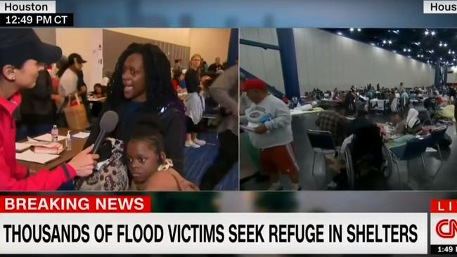 A distraught mother tore into a CNN reporter during a live interview.