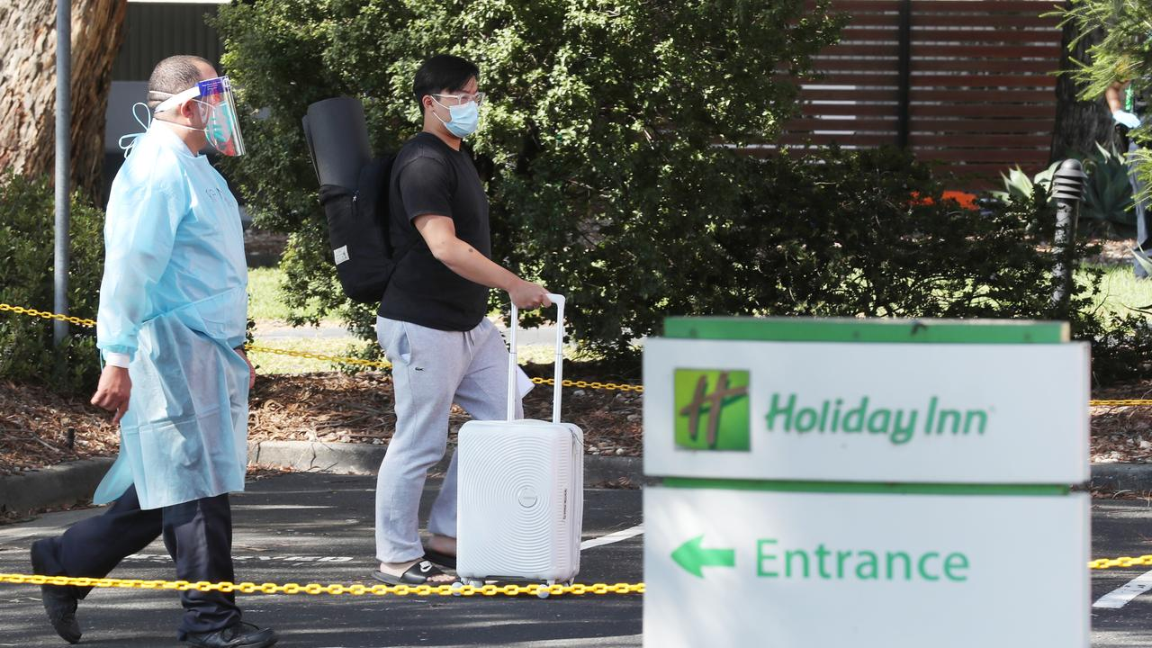 The Holiday Inn at Melbourne Airport was evacuated on Wednesday due to the outbreak. Picture: NCA NewsWire/ David Crosling