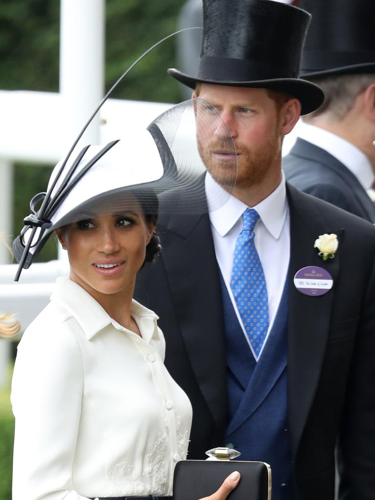 Meghan, Duchess of Sussex, Prince Harry, Duke of Sussex and Prince Charles, Prince of Wales attend Royal Ascot Day 1 at Ascot Racecourse on June 19, 2018 in Ascot, United Kingdom. (Photo by Chris Jackson/Getty Images)