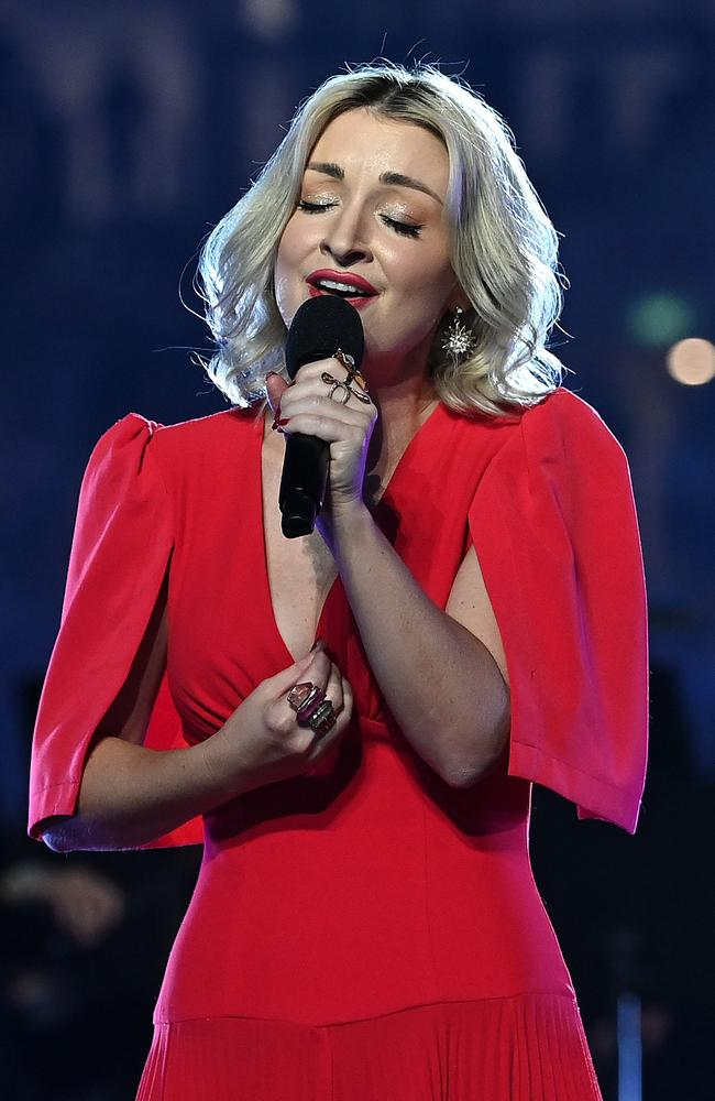 Kate Miller-Heidke tears up at the thought of playing with her peers at Wildflower. Picture: Getty