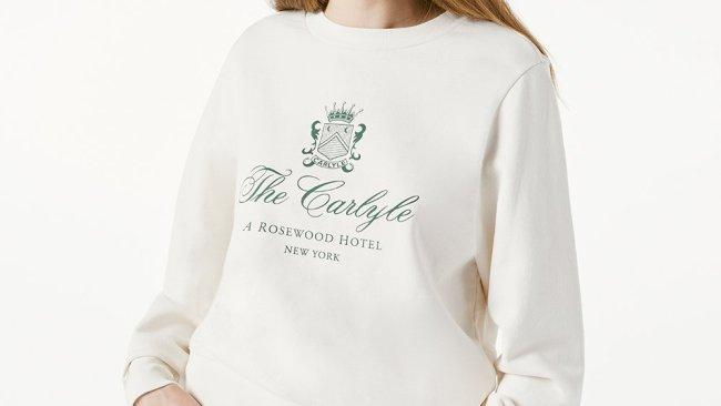2/13The Carlyle, New York City Perhaps the most luxurious and idiosyncratic hotel in a location that seemingly drips with them, the Carlyle has just released its first collection. As with the hotel itself we're talking underplayed luxury with the green logo on ecru sweatshirt at the top of our wish list.