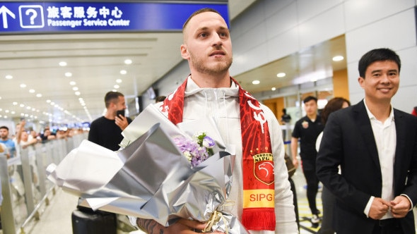 Marko Arnautovic has arrived in Shanghai