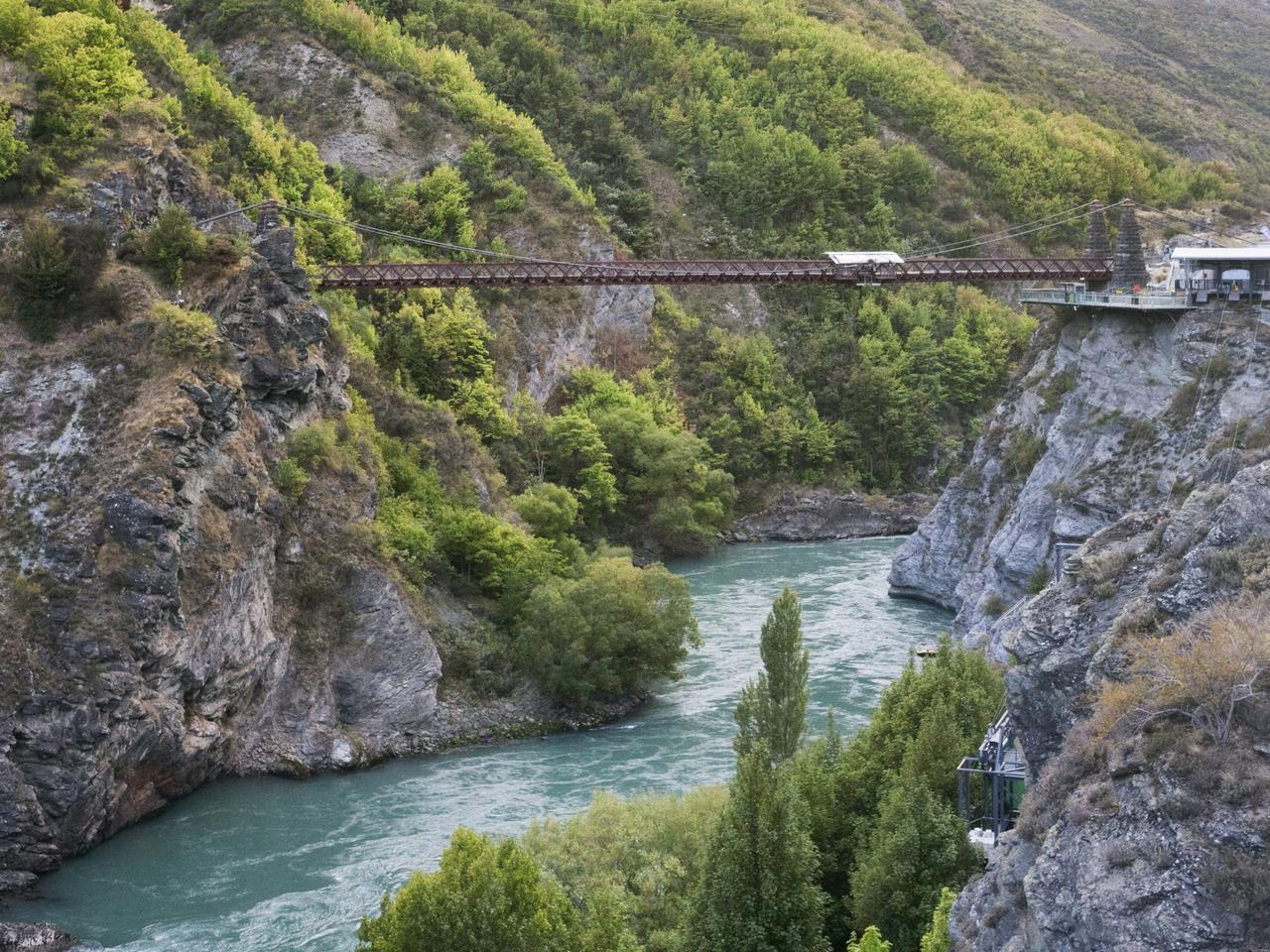 World's First Commercial Bungee Jumping Site near Queenstown, New Zealand